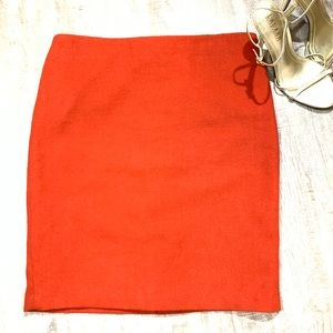 Dalia Collection Lined Wool Blend Skirt Lined